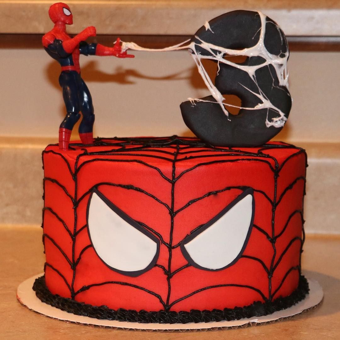 Spiderman Birthday Cakes Spiderman Birthday Cake Chocolate And Vanilla Marble With Vanilla
