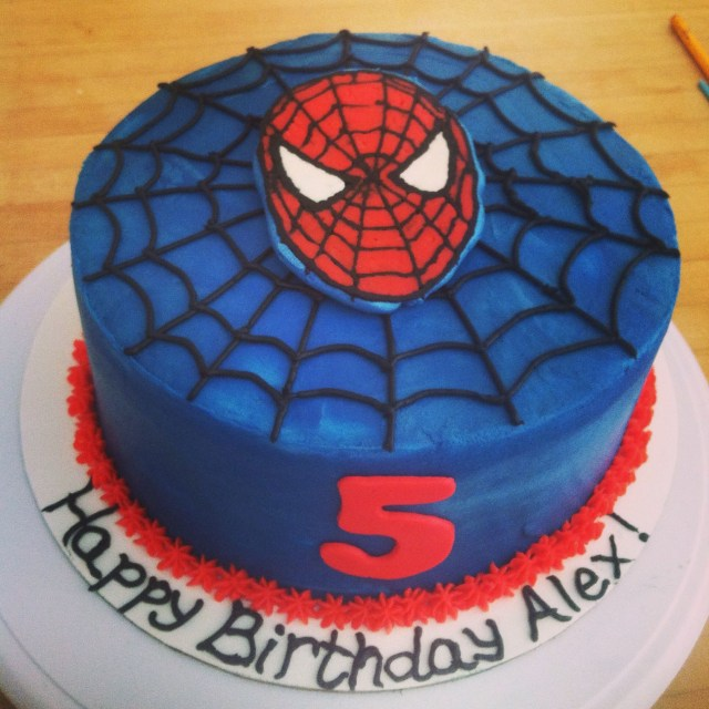Spiderman Birthday Cakes Spiderman Cake Buttercream Transfer Spidey Birthday Cakes In