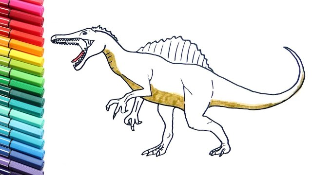Spinosaurus Coloring Page Drawing And Coloring Spinosaurus Coloring Pages For Kids To Learn