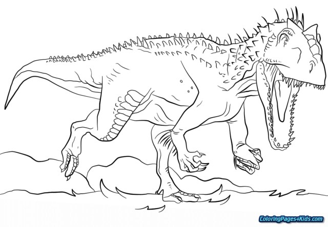 Spinosaurus Coloring Page Jurassic Park Spinosaurus Coloring Pages Free Printable Coloring Pages
