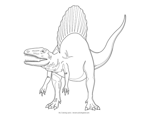 Spinosaurus Coloring Page Realistic Spinosaurus Coloring Pages Rizapbeauty