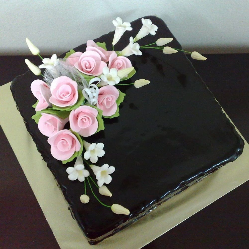 Sensational Square Birthday Cakes Black Forest Cakes Ahmedabad Birthday Funny Birthday Cards Online Hendilapandamsfinfo