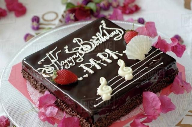 Square Birthday Cakes Square Birthday Cake Stock Photo Dissolve