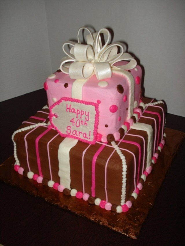 Square Birthday Cakes Square Tiered Birthday Cake Cakecentral