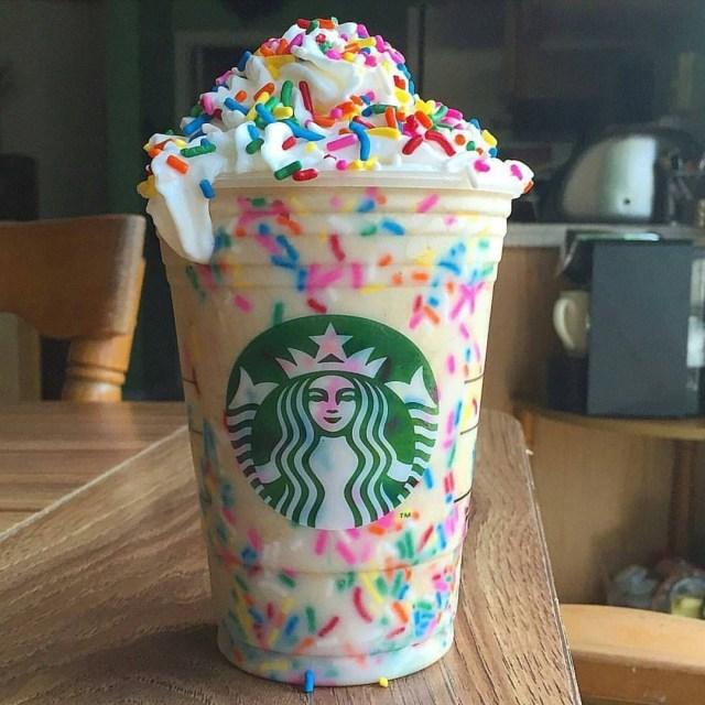 Starbucks Birthday Cake Pop Recipe Starbucks Vanilla Birthday Cake Batter Frappuccino Homemade Ig