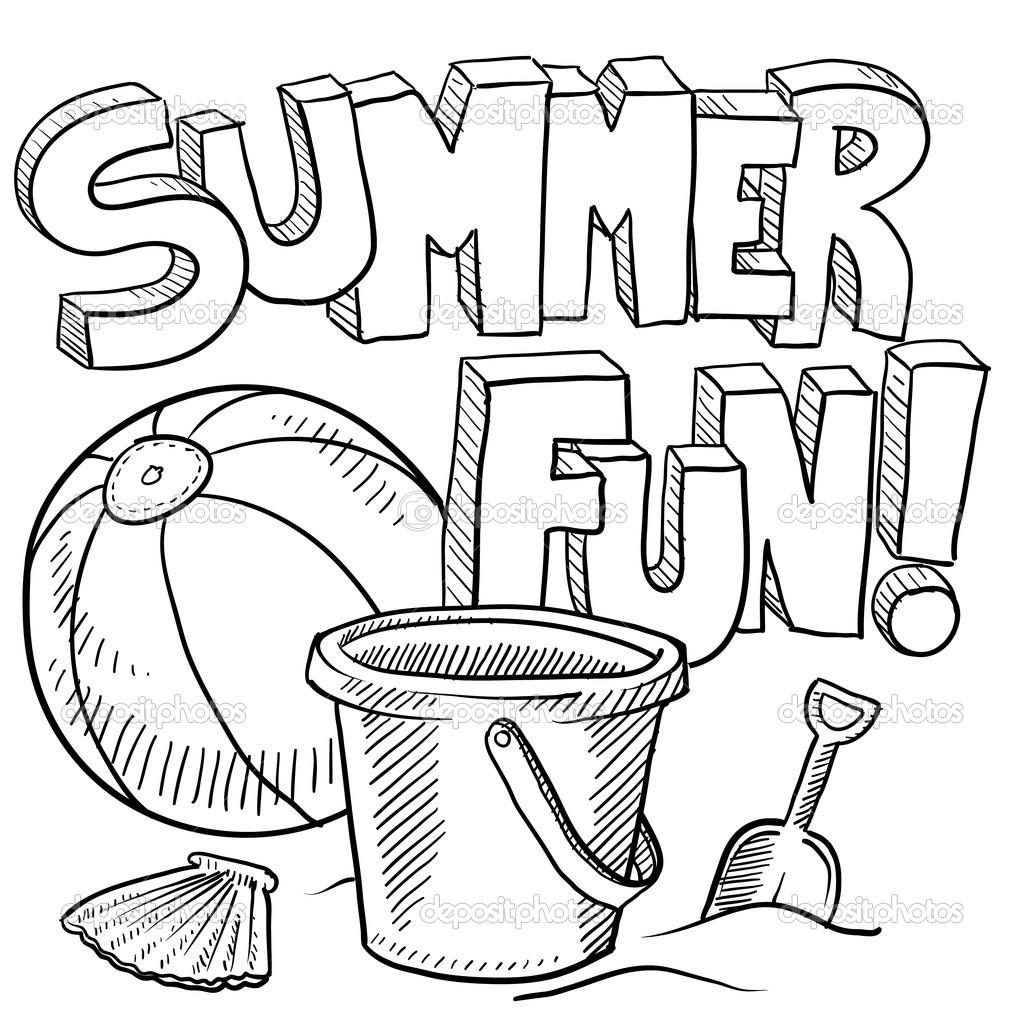 Summer Fun Coloring Pages Coloring Pages Coloring Pages Beach
