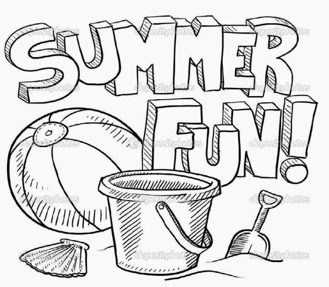 25 Inspired Picture Of Summer Fun Coloring Pages Birijus Com