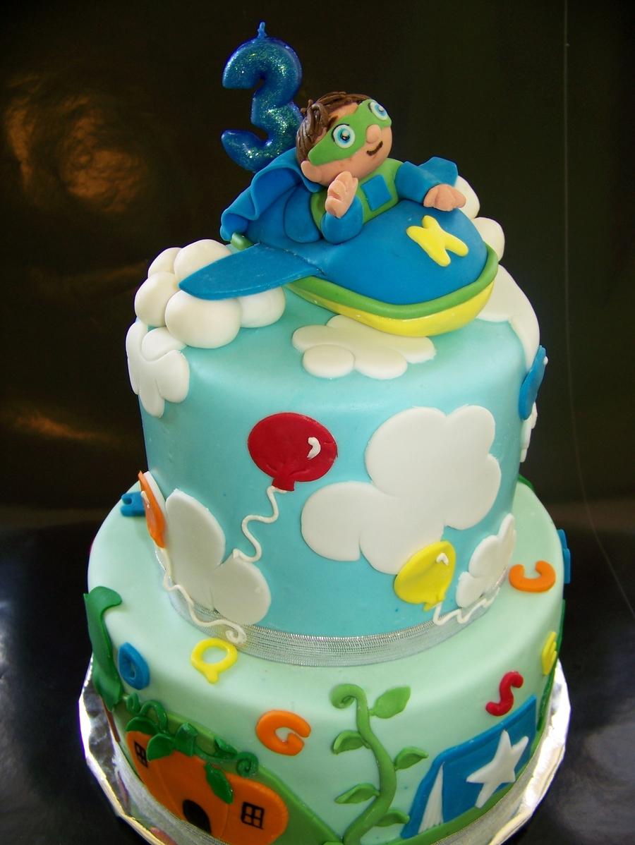 Amazing Super Why Birthday Cake Super Why Cake Cakecentral Birijus Com Personalised Birthday Cards Paralily Jamesorg