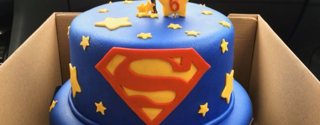 Superman Birthday Cake Superman Birthday Cake With Fondant Decorations Things Ive Done