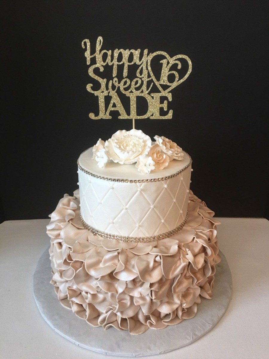Fine Sweet Sixteen Birthday Cakes Pin Jennifer Schofield On Dinner Funny Birthday Cards Online Chimdamsfinfo
