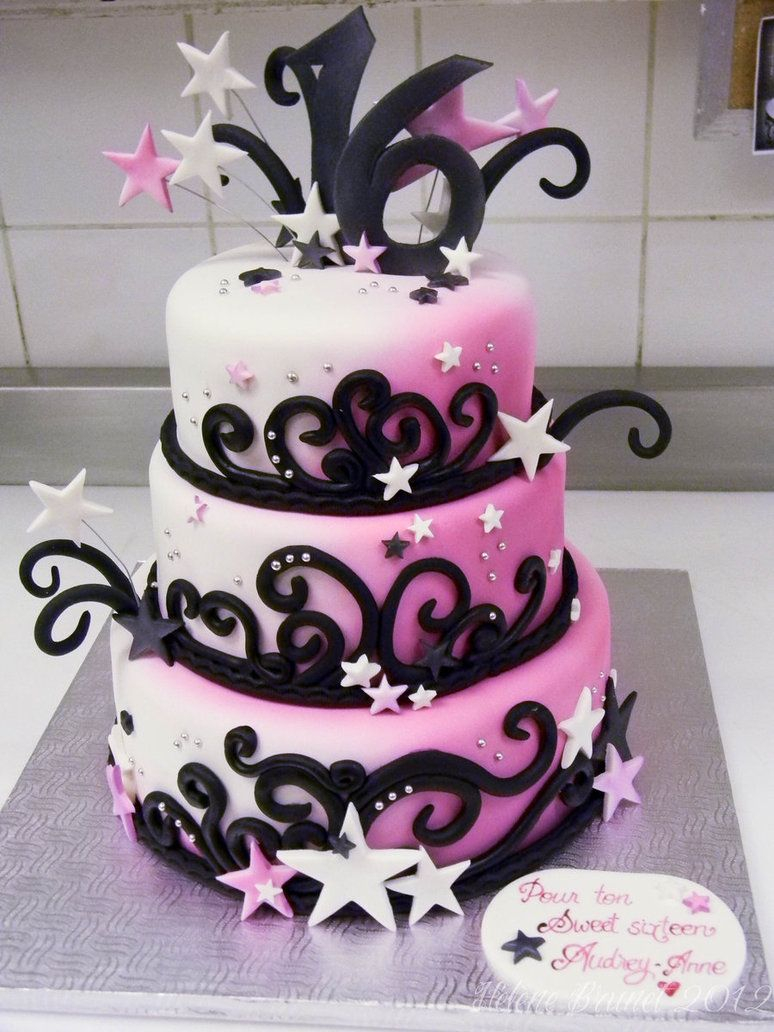 Superb Sweet Sixteen Birthday Cakes Sweet 16 Cake Buttercreamfantasies On Personalised Birthday Cards Veneteletsinfo