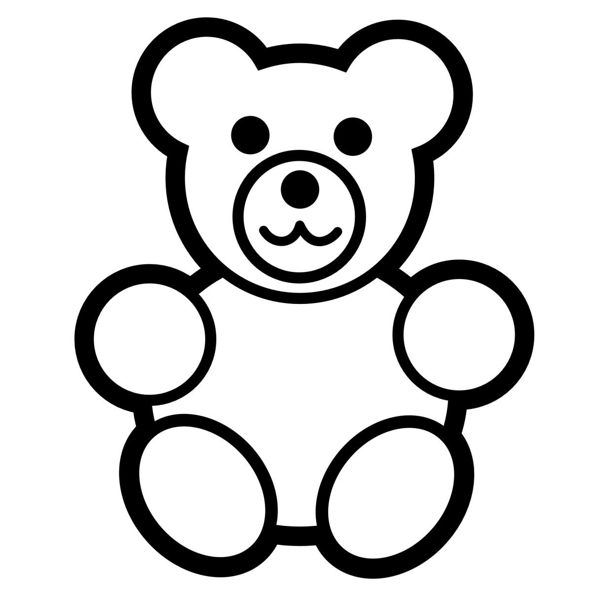 American Black Bear Portrait coloring page | Free Printable ... | 1200x1200