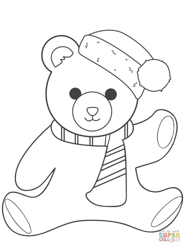 Teddy Bear Coloring Pages Free Printable Teddy Bear Coloring Pages For Kids Cool Cartoon Bear