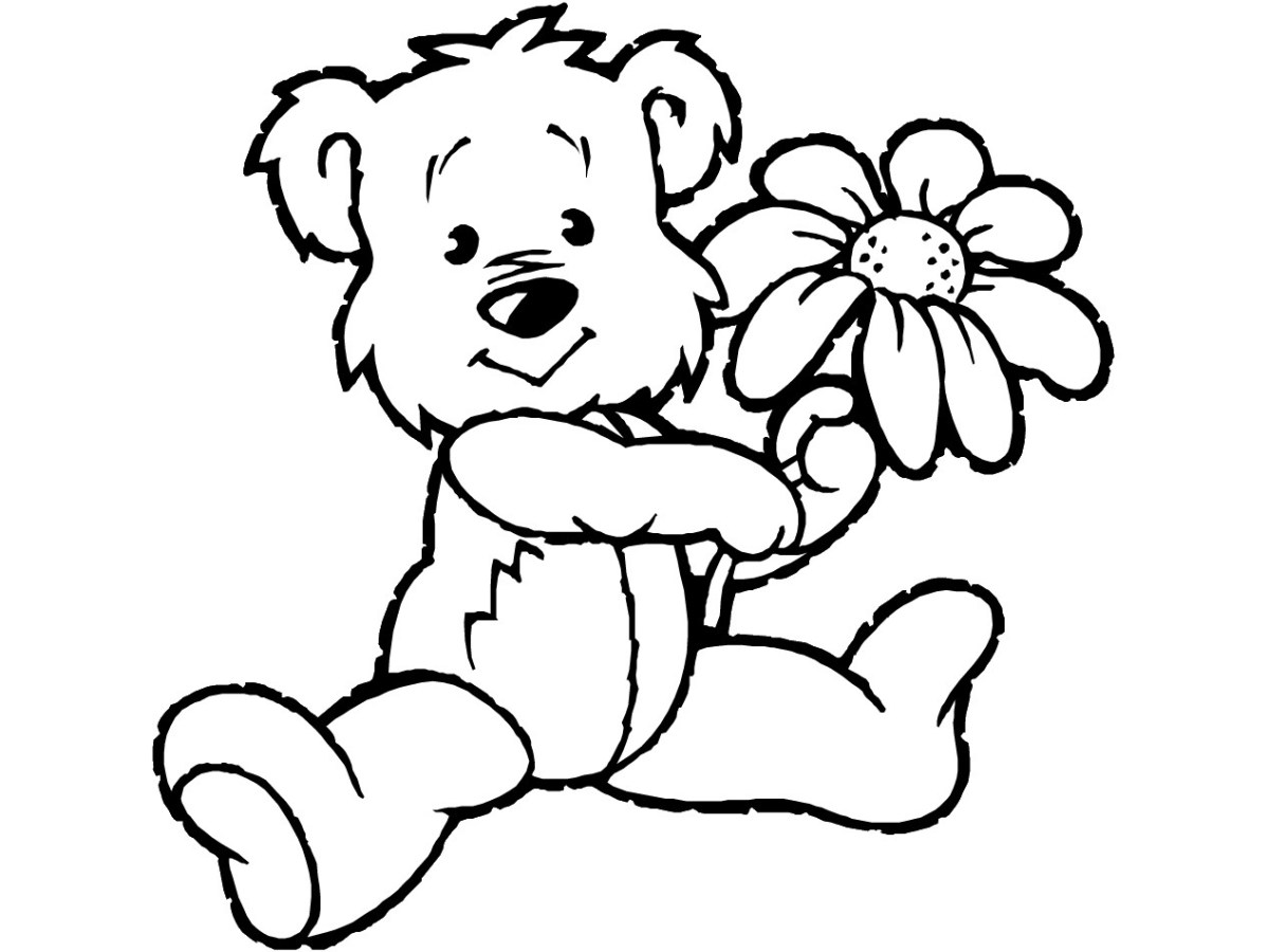 Teddy Bear Coloring Pages Free Printable Teddy Bear Coloring Pages