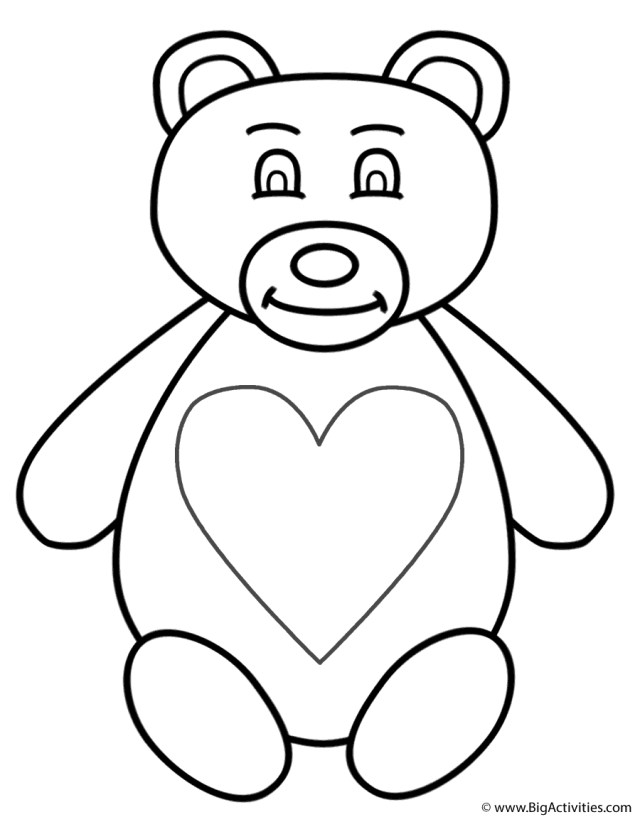 Free Printable Teddy Bear Coloring Pages For Kids | Teddybär bild ... | 817x640