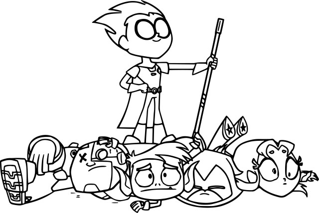 Teen Titans Coloring Pages Robin Teen Titans Go Victorious Coloring Page Wecoloringpage