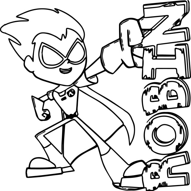 Teen Titans Coloring Pages Teen Titans Go Robin Coloring Pages Wecoloringpage