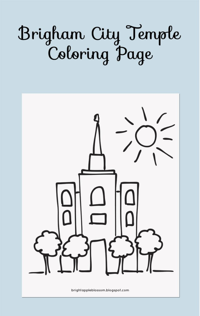 Temple Coloring Page Brigham City Temple Coloring Page Bright Apple Blossom