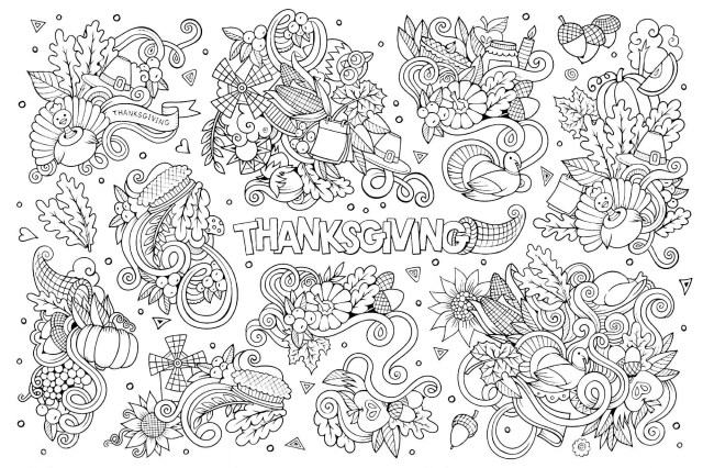 Thanksgiving Coloring Pages For Kids Free Thanksgiving Coloring Pages For Adults Kids Happiness Is