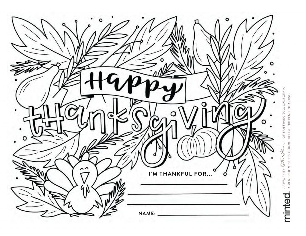 Thanksgiving Coloring Pages For Kids Free Thanksgiving