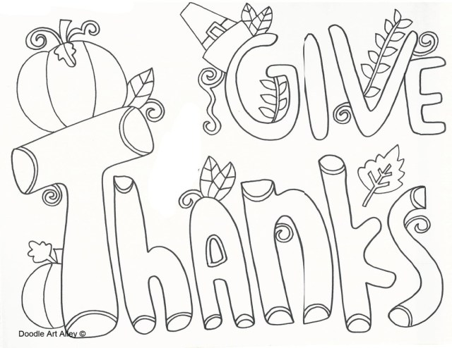 Thanksgiving Coloring Pages For Kids Thanksgiving Coloring Pages Doodle Art Alley
