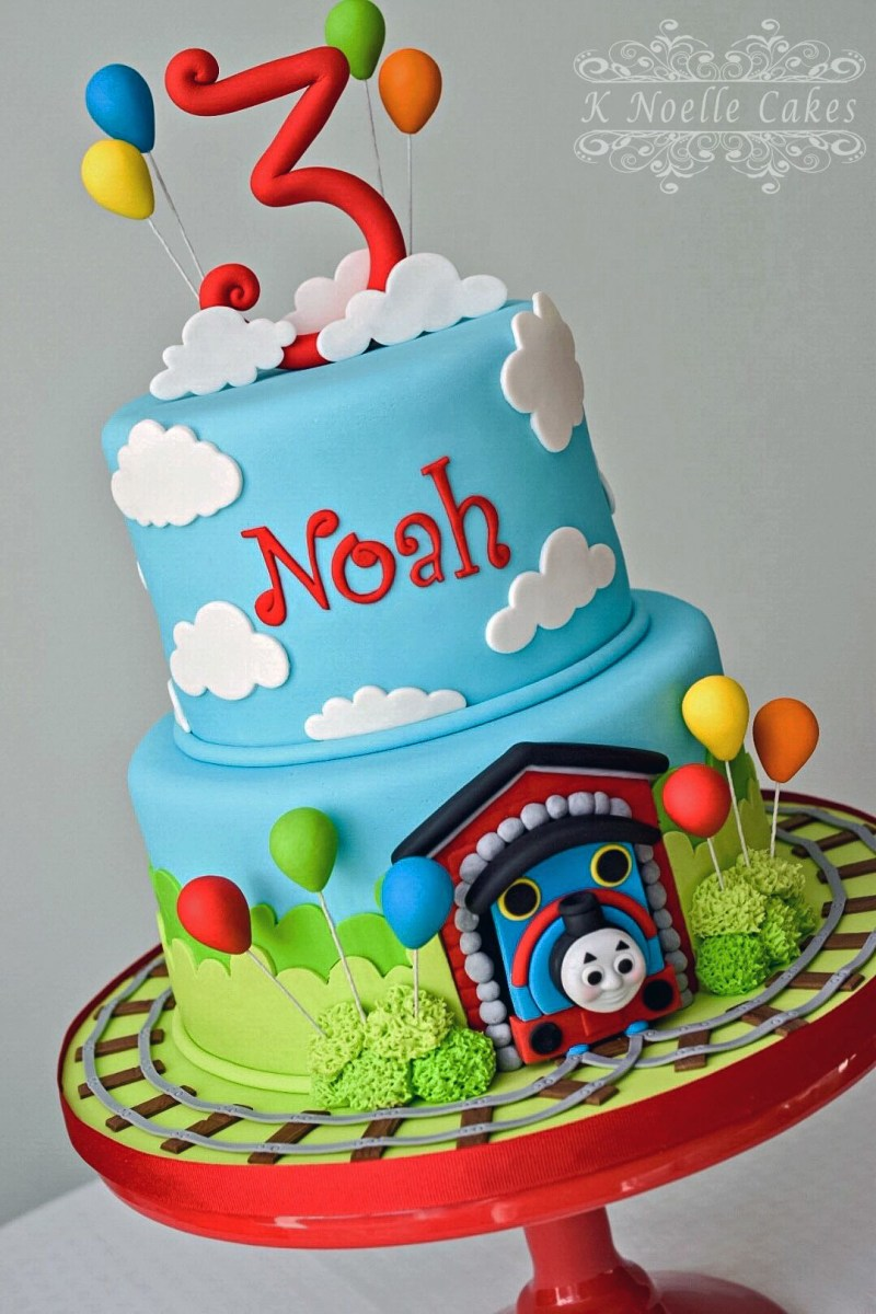 Surprising Thomas And Friends Birthday Cake Thomas The Train Cake K Noelle Funny Birthday Cards Online Overcheapnameinfo