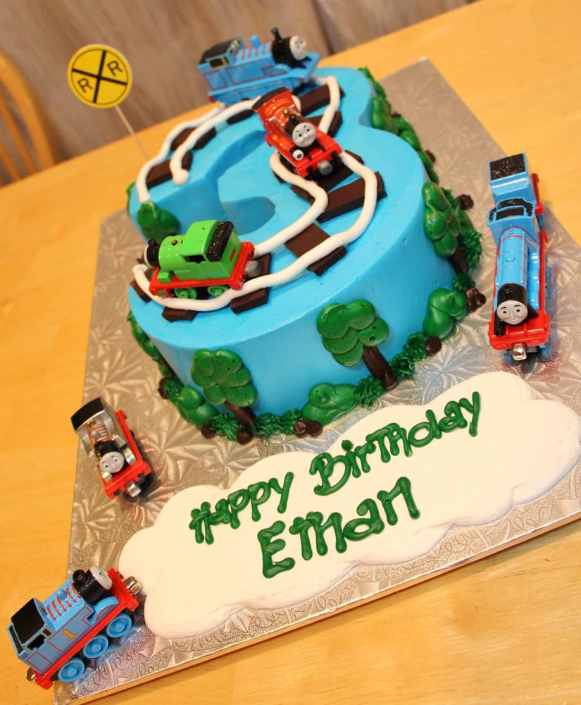 Astounding Thomas The Train Birthday Cake Number 3 Thomas The Train Birthday Funny Birthday Cards Online Eattedamsfinfo