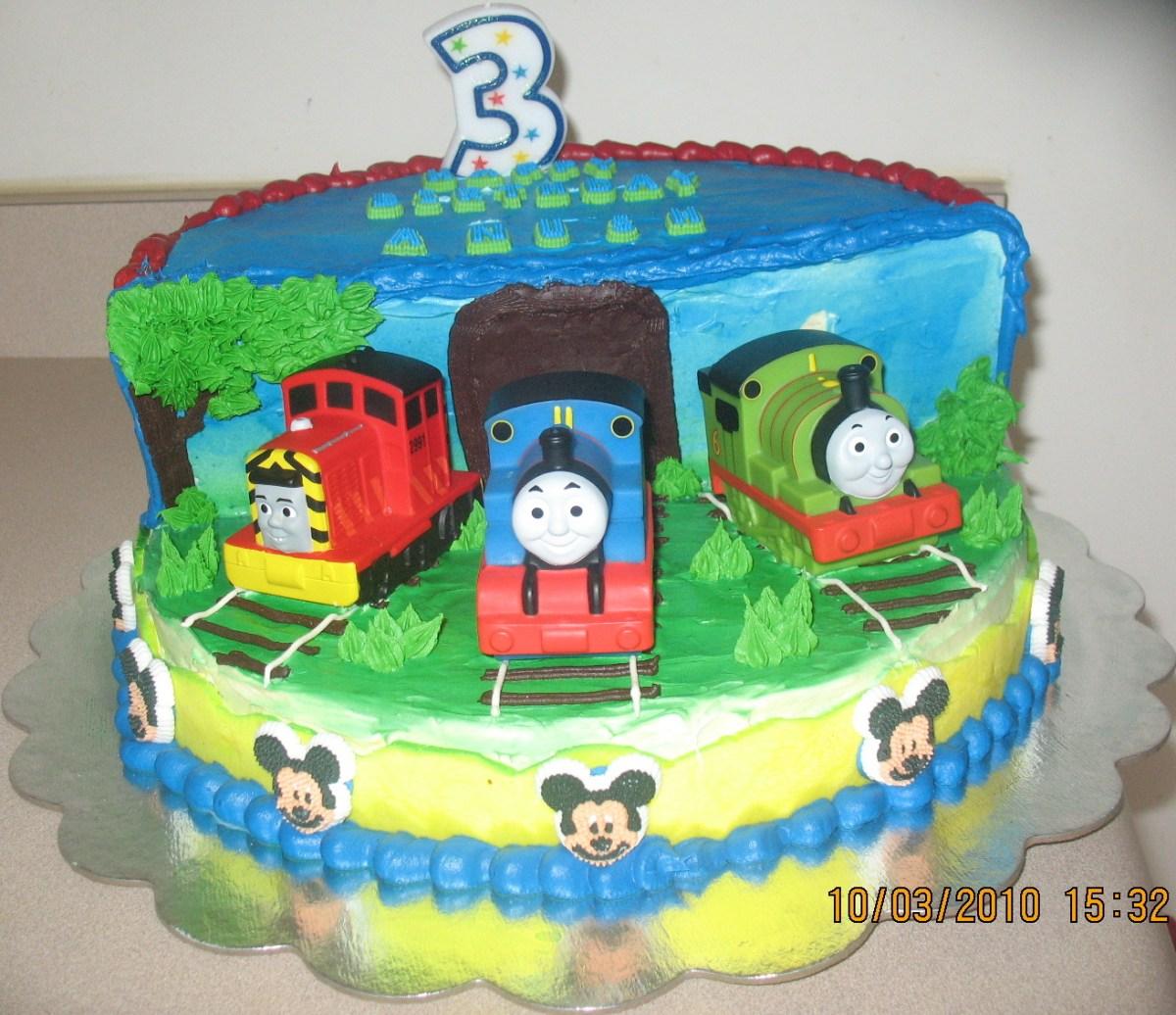 Thomas The Train Birthday Cake Thomas Train Stage Cake Anushs 3rd ...