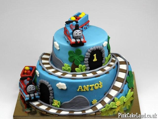 Thomas The Train Birthday Cakes 13 Thomas The Train Engine Cakes Photo Thomas Tank Engine Birthday