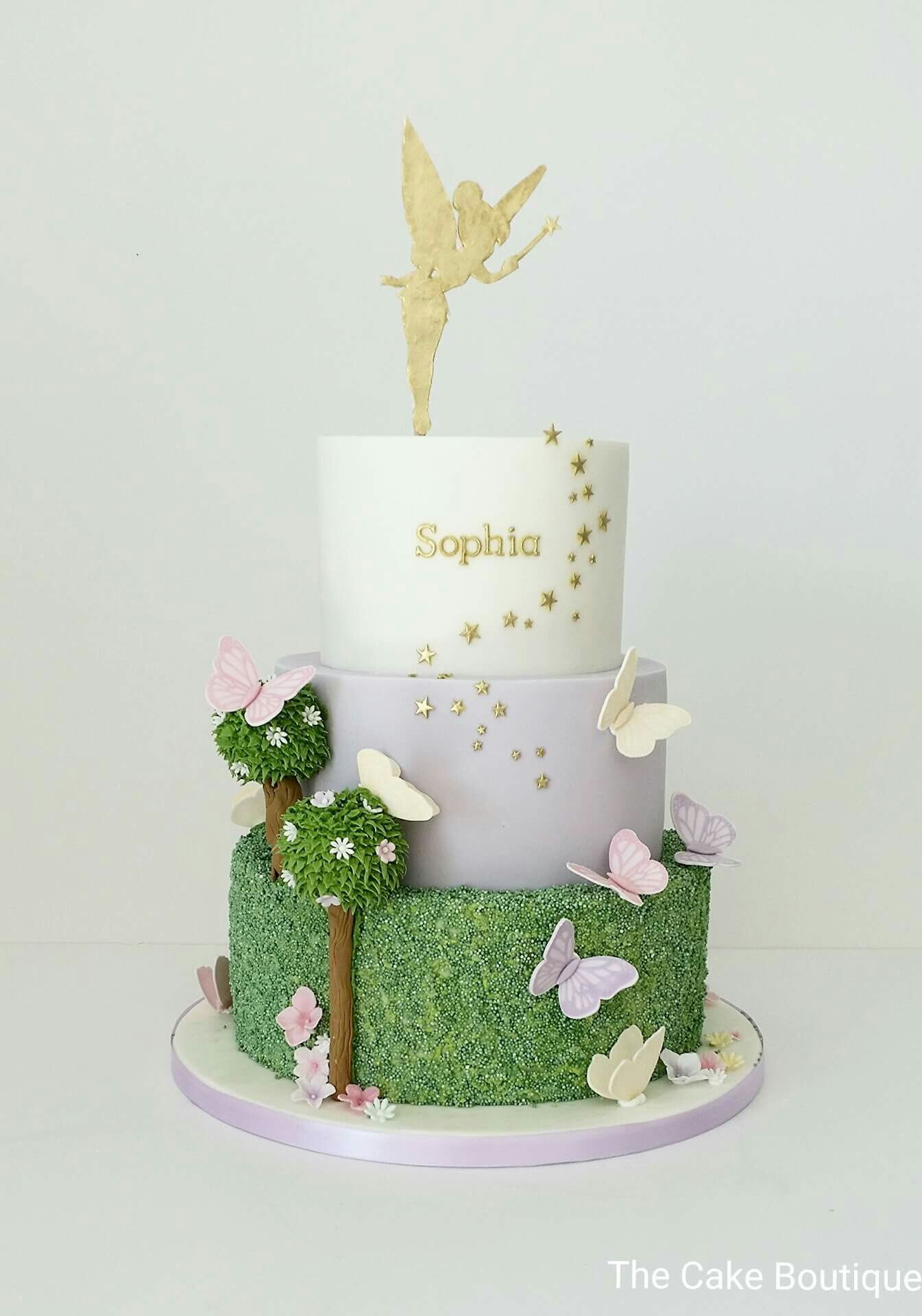 Fabulous Tinkerbell Birthday Cakes Fairies Theme Butterfly Cake Birthday Personalised Birthday Cards Cominlily Jamesorg