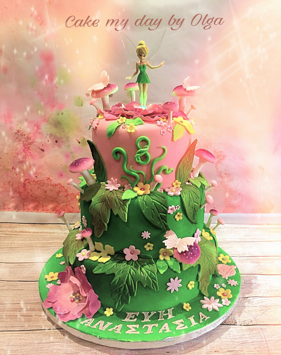 Incredible Tinkerbell Birthday Cakes Tinkerbell Birthday Cake Cakecentral Personalised Birthday Cards Cominlily Jamesorg