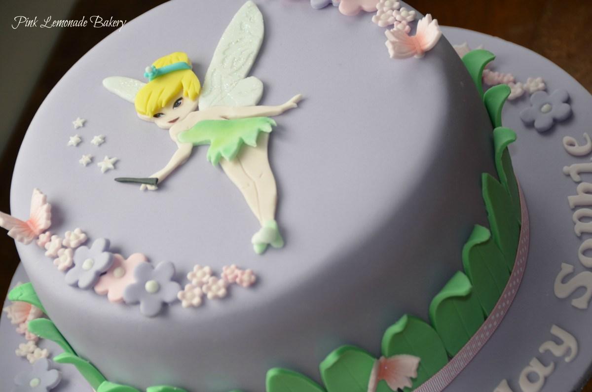 Remarkable Tinkerbell Birthday Cakes Tinkerbell Birthday Cake Pink Lemonade Funny Birthday Cards Online Drosicarndamsfinfo