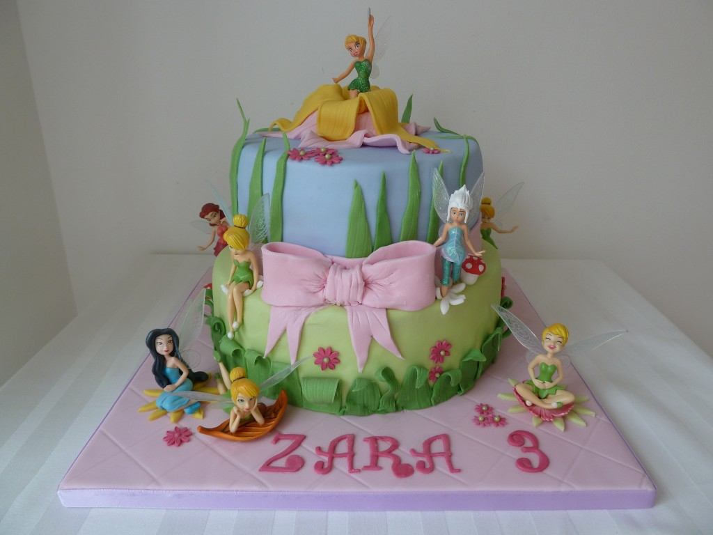 Stupendous Tinkerbell Birthday Cakes Tinkerbell Fairy Birthday Cake Wedding Personalised Birthday Cards Sponlily Jamesorg