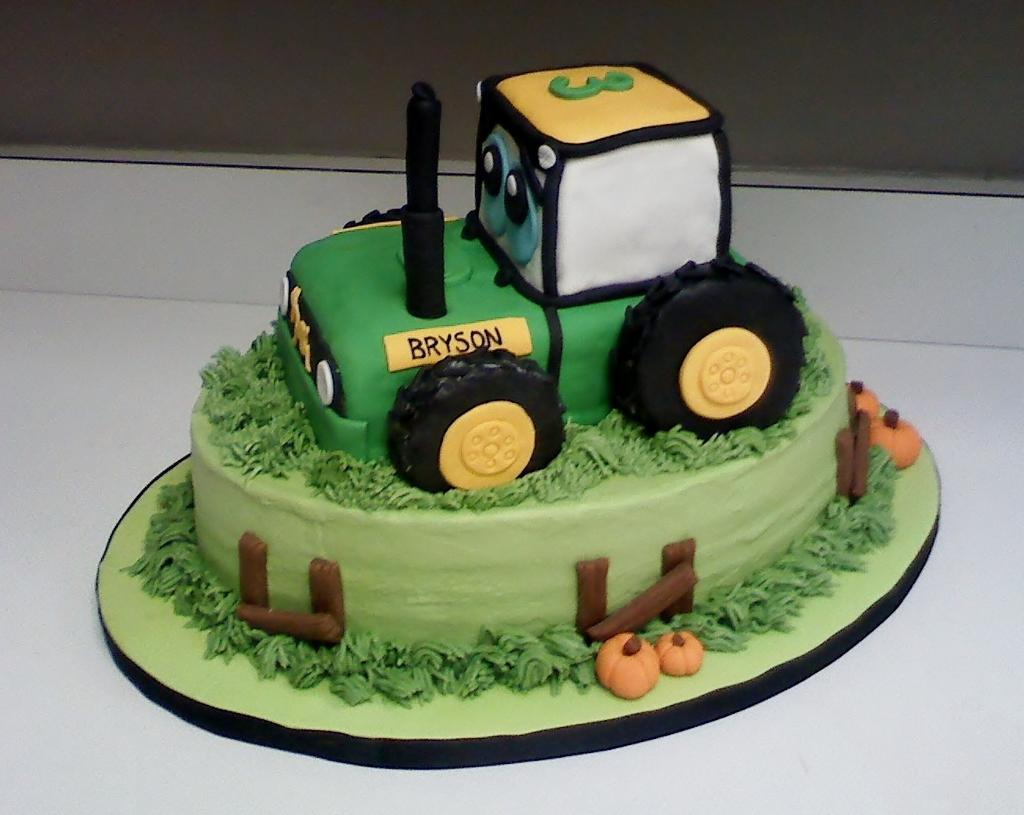 Brilliant Tractor Birthday Cakes 11 Tractor Cakes For Boys Ideas Photo John Funny Birthday Cards Online Fluifree Goldxyz