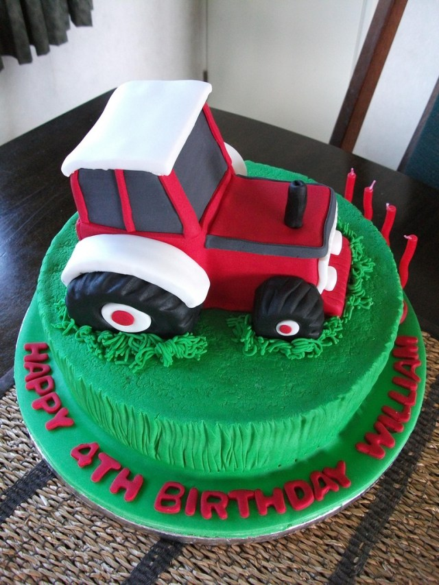 Tractor Birthday Cakes Cake William Loves Tractors Especially Flickr