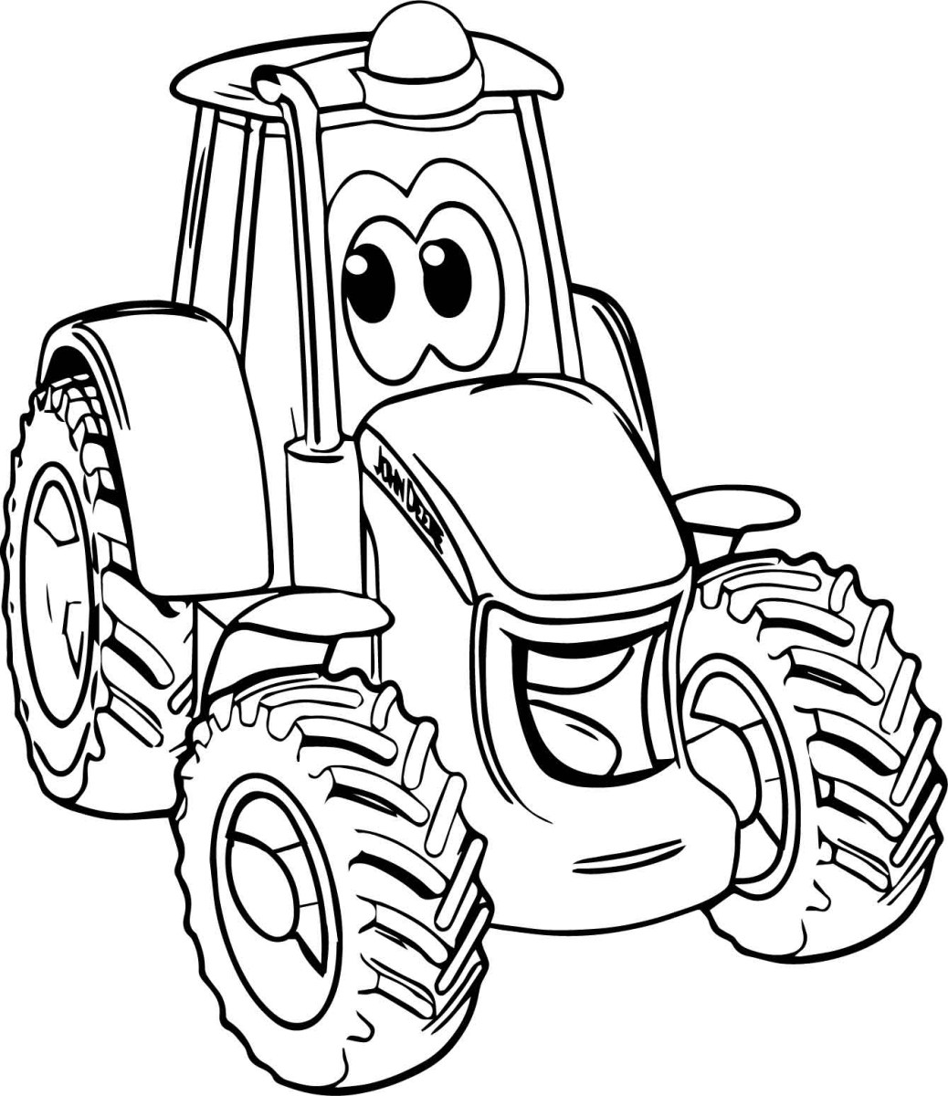 Tractor Coloring Page Smile John Deere Tractor Coloring Page Wecoloringpage Birijus Com