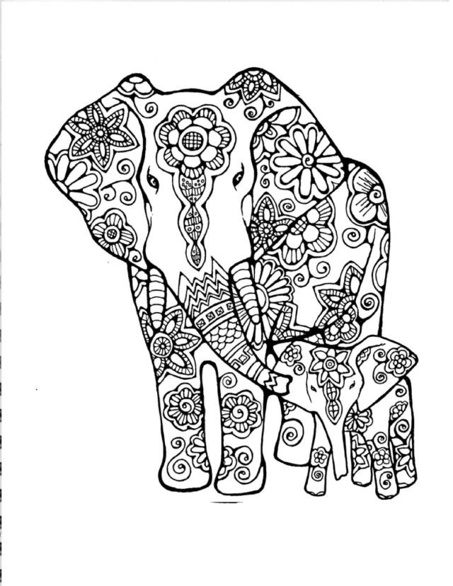 Tumblr Coloring Pages Tumblr Coloring Pages Elephants Free 10 G Art Adult Elephant 15
