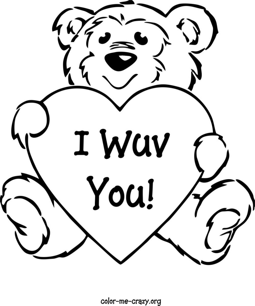 Valentines Day Coloring Pages Printable Free Printable ...