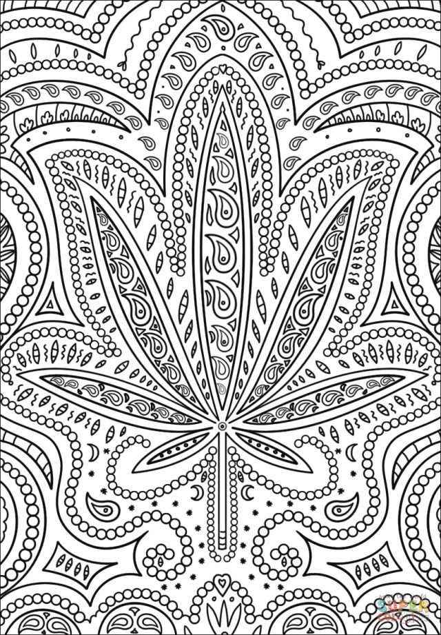 Weed Coloring Pages Trippy Weed Coloring Page Free Printable Coloring Pages