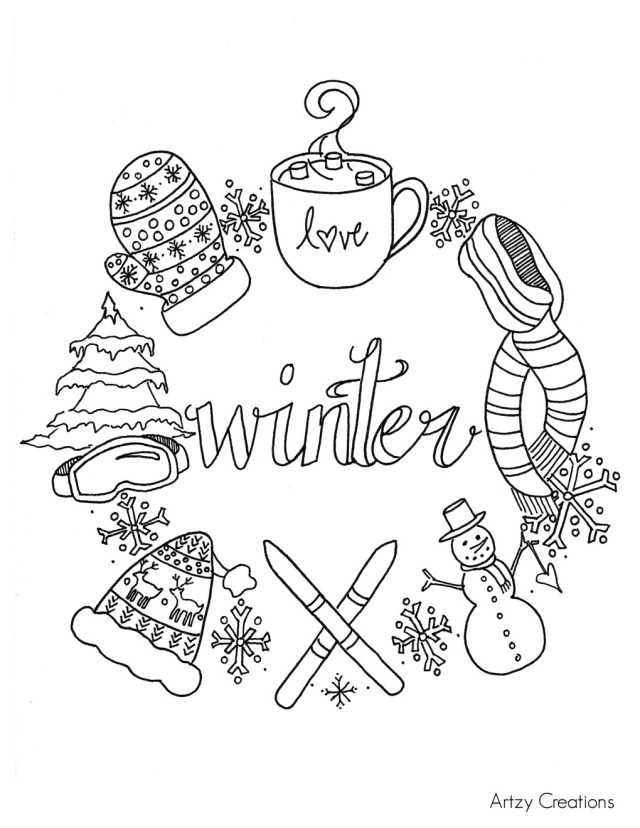 Creative Photo of Winter Coloring Pages For Kids - birijus.com