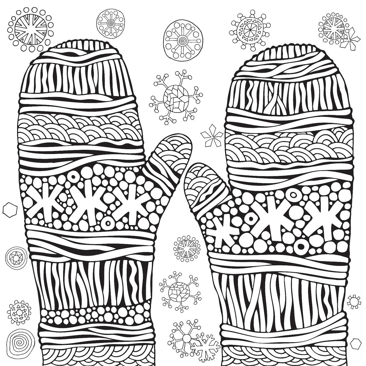 - Winter Coloring Pages For Kids Winter Puzzle Coloring Pages