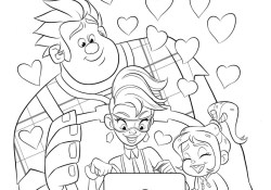 Wreck It Ralph Coloring Pages Free Printable Wreck It Ralph Coloring Pages Play Party Plan