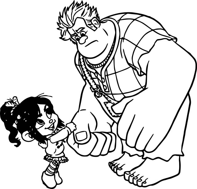 Wreck It Ralph Coloring Pages Wreck It Ralph Come Here Coloring Page Wecoloringpage