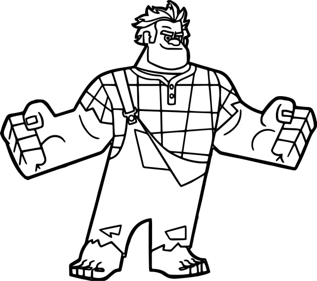Wreck It Ralph Coloring Pages Wreck It Ralph I Am Here Coloring Page Wecoloringpage