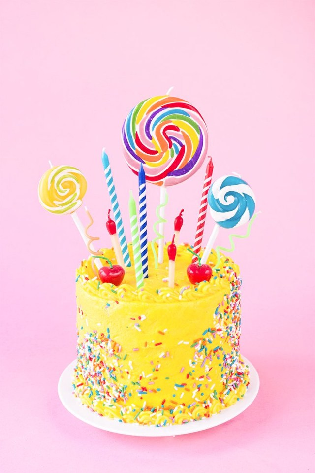 Yellow Birthday Cake The Ultimate Guide To Birthday Candles Bloggers Best Diy Ideas