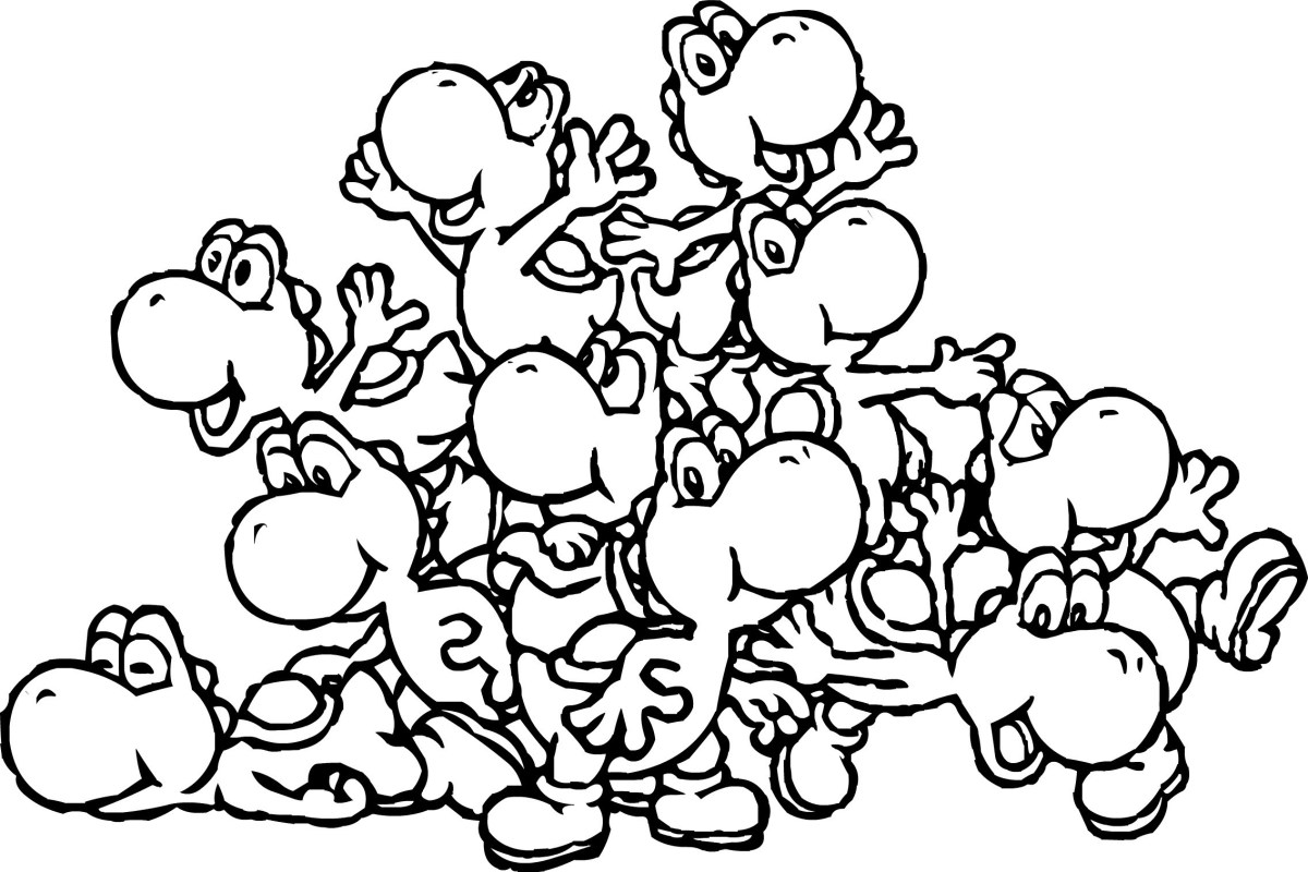Yoshi Coloring Pages Luxury Ba Yoshi Coloring Pages To Print Printable Gallery Free