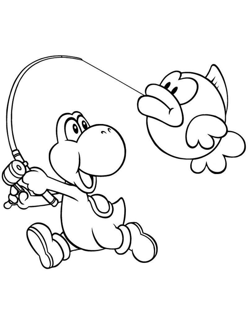 Yoshi Coloring Pages Printable Yoshi Coloring Pages Linear Super