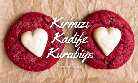 Kırmızı Kadife Kurabiye – Red Velvet Cookies