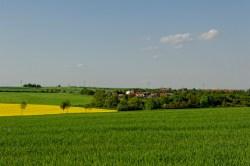 Bild: Panoramafoto von Greifenhagen im Unterharz. NIKON D700 mit TAMRON SP 24-70mm F/2.8 Di VC USD. ISO 200 ¦ f/11 ¦ 70 mm ¦ 1/250 s ¦ kein Blitz. Klicken Sie auf das Bild um es zu vergrößern.