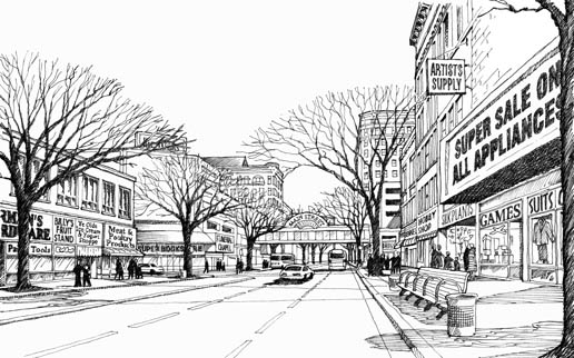 Streetscape Scene for CNA